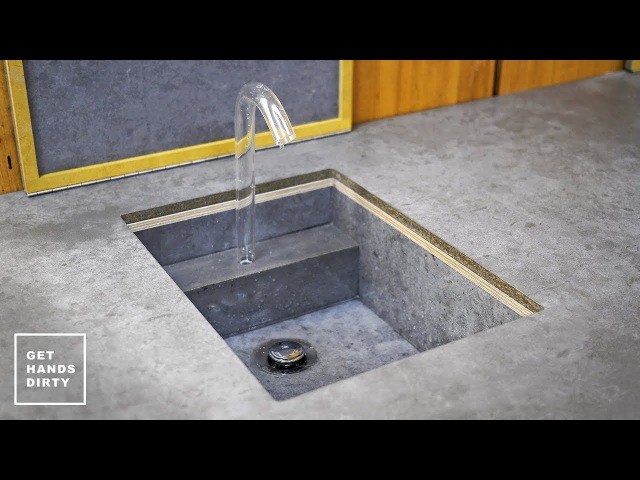 How to Make a Sink Countertop Tap and Water System Studio Kitchen Ep 3