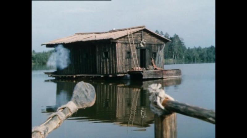 Зверобой (1990). Бой с индейцами в доме на плоту