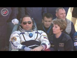 Есть посадка! Экипаж ТПК Союз МС-07 благополучно вернулся на Землю