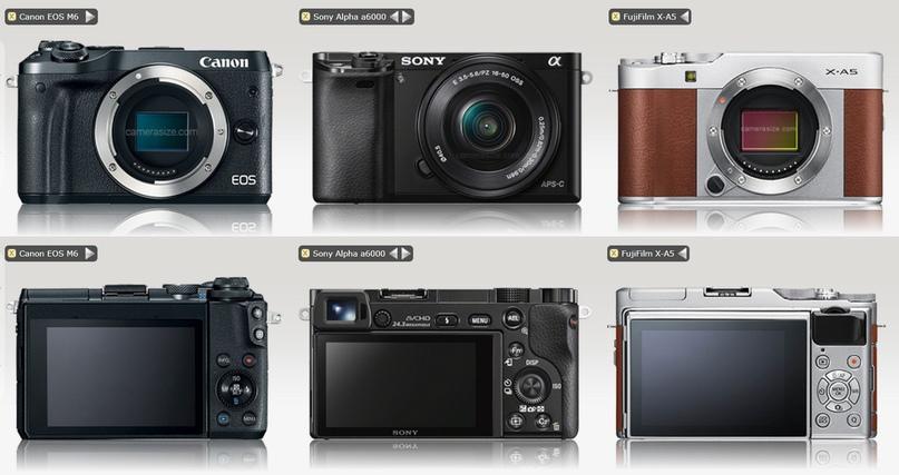 Обратите внимание, только у Sony A6000 есть видоискатель, у двух других его нет. Так что их мы не рассматриваем!