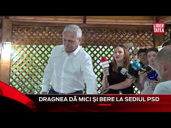 Liviu Dragnea dă mici la sediul PSD, iar internautul care a pierdut pariul aduce naveta de bere