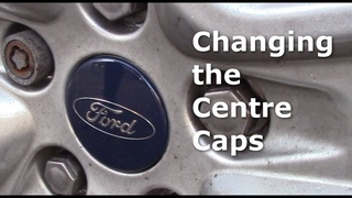 How to change the centre cap on an alloy wheel. Center. Ford focus Mk2