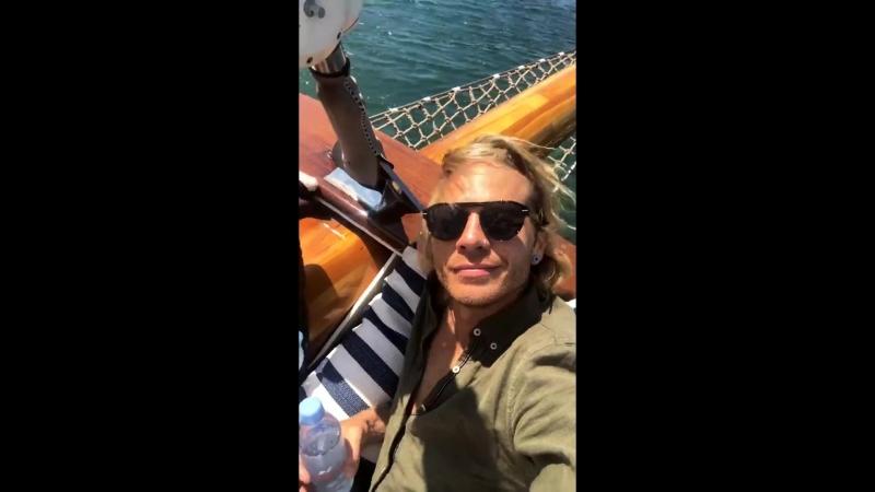 Saulis instagram stories with Adam sailing in Barcelona June 11 2018 1080p