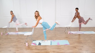 Katie Dunlop - Full-Body Barre Bootcamp Workout | Тренировка для проблемных зон с фитнес-резинкой