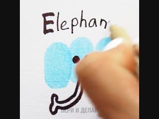 Рисуем и учим английский алфавит