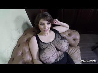 Xenia wood - obscenely busty up close fishnet