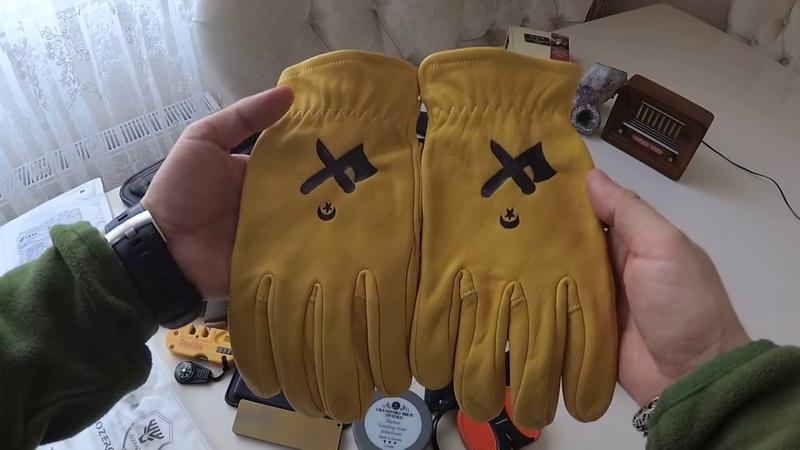 Ozero bushcraft, outdoor deri eldiven inceleme. Ozero gloves. 1080p video