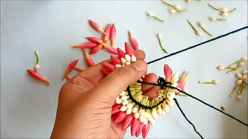 Bridal flower poo jadai Veni Gajra Jadai billai Different method to tie flower