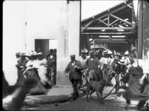 A Saída dos Operários da Fábrica Lumière 1895 La Sortie de l'usine Lumière à Lyon