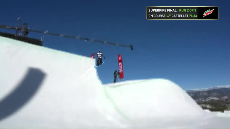 Queralt Castellet Third Place Run From Womens Modified Pipe Finals at 2018 Dew Tour