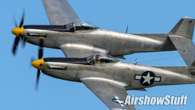 XP 82 Twin Mustang Engine Start and Flybys Saturday EAA AirVenture Oshkosh 2019