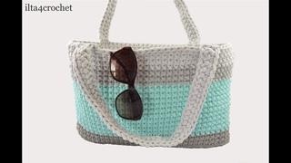 Jak szydełkiem zrobić torbę ze sznurka (How to crochet bag)  - ilta4crochet