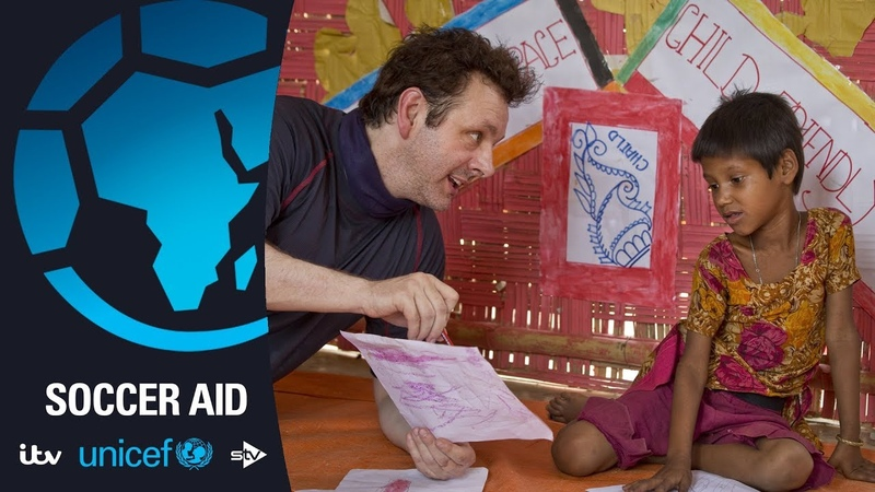 Michael Sheen visits the Rohingya in Bangladesh Soccer Aid for Unicef