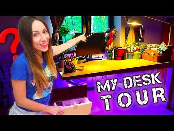 МОЙ РАБОЧИЙ СТОЛ ОБЗОР MY DESK TOUR Back to School 2018 | Elli Di