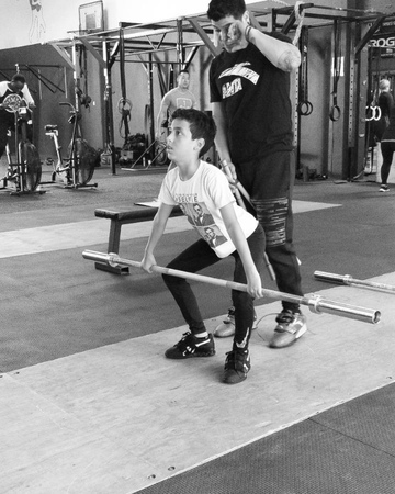 """-First year or two of training we limit the amount of full lifts. Give your opinion in commens below. Gian (9yo) is…"""""""