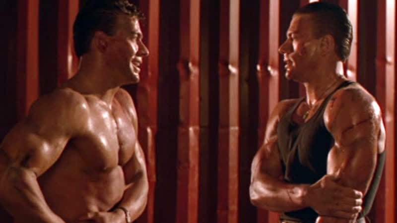 Двойной удар Double Impact 1991 год США Боевик Криминал Жан Клод Ван Дамм Джеффри Льюис Алан Скарф Боло Йен