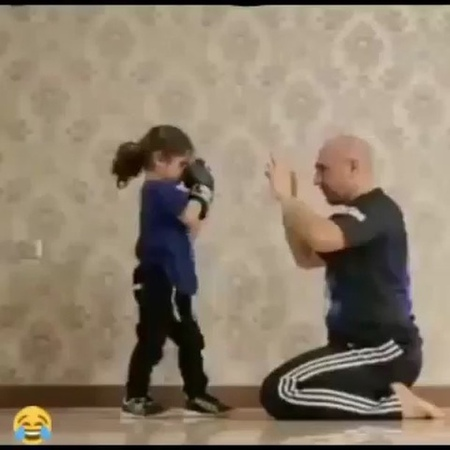 """OhhDamnnTv on Instagram """"This Little Guy Ain't Playing About Y'all 🤣🤣 instavideo funnymemes instafunny kickboxing cutekids kids parents ta..."""