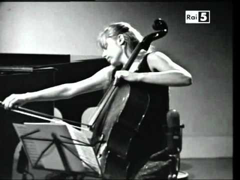 Jacqueline Du Pré and Daniel Barenboim play Brahms's Cello Sonata op 99 1st Movt