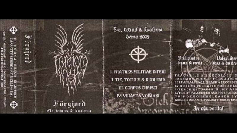 Förgjord [FIN] [Raw Black] 2002 - Tie, totuus kuolema (Full Demo)