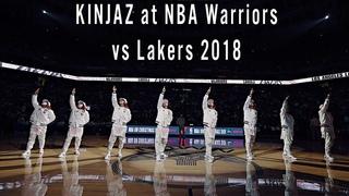 KINJAZ at NBA Warriors vs Lakers 2018