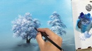 How to Draw a Winter Tree with Fan Brush Lesson 18