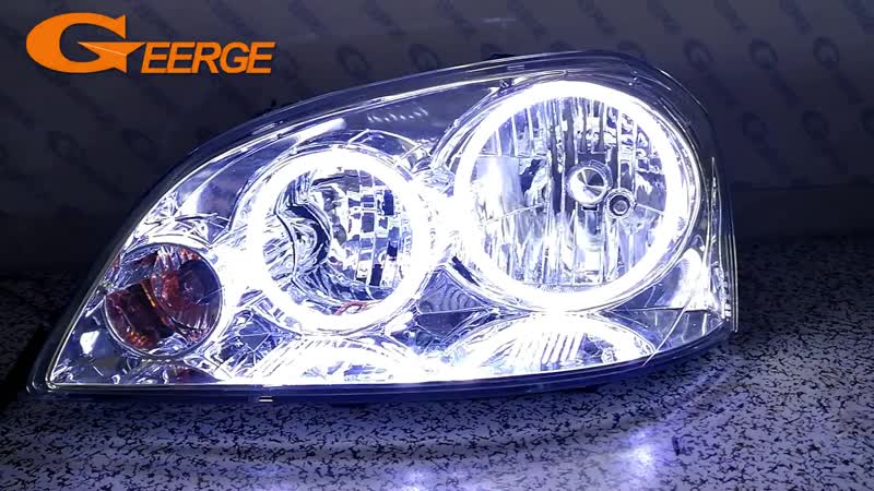 For Chevrolet Lacetti Optra Nubira 2002 2008 Excellent Ultra bright illumination COB led angel eyes kit halo rings