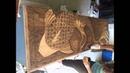 Decorative Wood Stain, Gradual stained Koi Fish Dresser