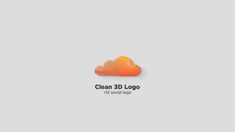 1) логотип 3D с отражениями и частицами