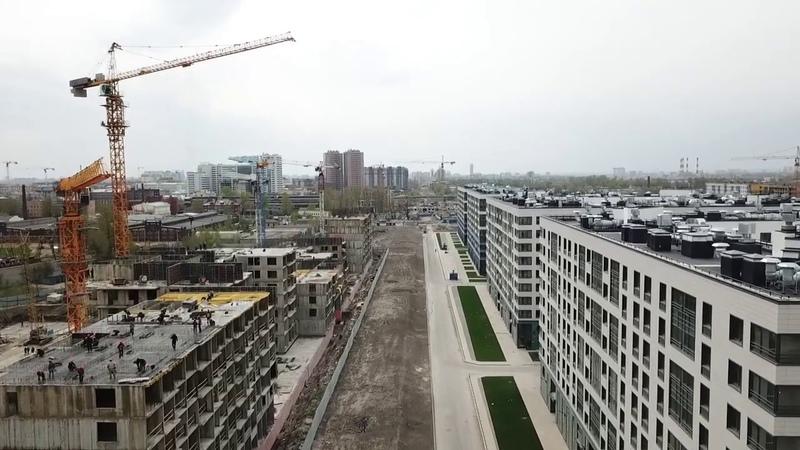 Парфёновская улица От Альбуминной до Малой Митрофаньевской Съёмка с дрона