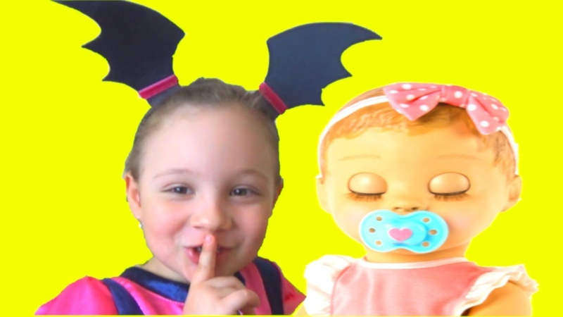 Rock a Bye Baby Lullaby song for kids by Vampirina and Luvabella doll