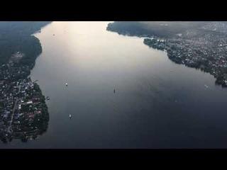 Аэросъёмка реки Клязьма (Пирогово, Мытищи) 4K Ultra HD