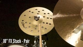 "Zildjian Sound Lab: 10"" FX Stack | Pair & HiHat (Played on Kit)"