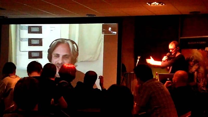 Gamefreakblog at Gamecity nights: Lorne Lanning does Oddworld impersonations.