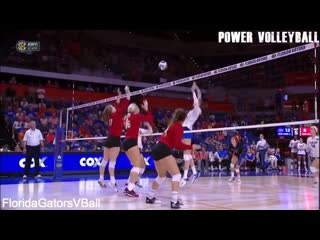 Crazy tall players skills in volleyball (hd)