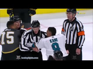 Evander Kane vs Ryan Reaves Apr 14, 2019