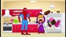 Маша плачет против Spiderman гигантский крем ш Маша Marvel мультфильма для детей!