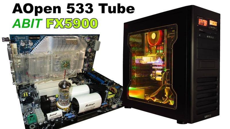 Tube build with LIAN LI Pentium 4 GeForce FX5900 RETRO Hardware