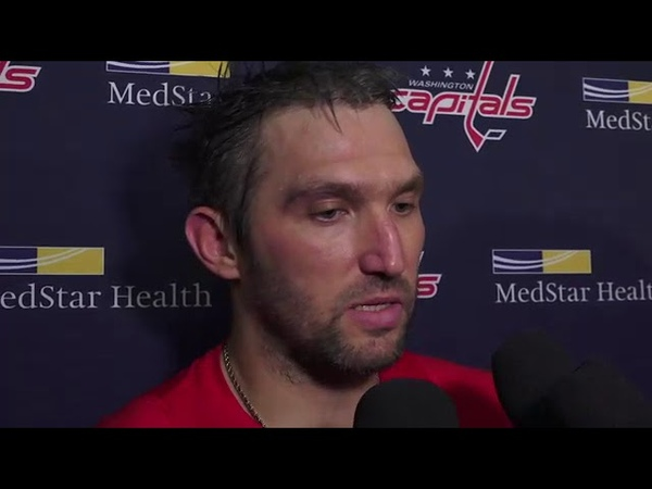 Capitals Alex Ovechkin speaks to media after getting 700th career goal