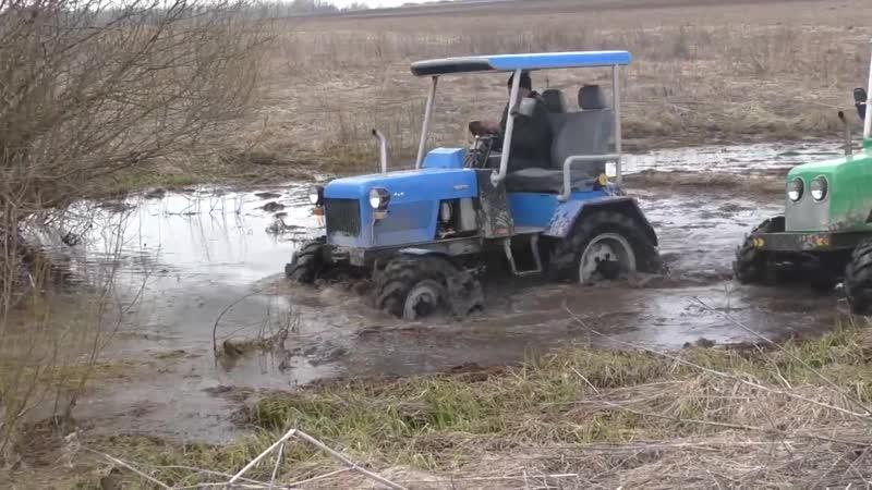 Такого никто не ожидал Самодельные трактора 4x4 месят грязь на бездорожье Подборка