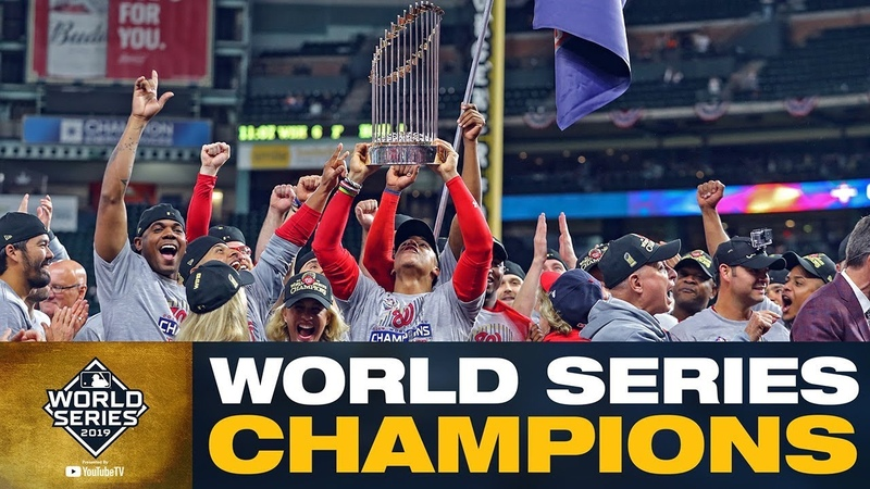 Washington Nationals: 0.1% chance of winning the World Series to Champions