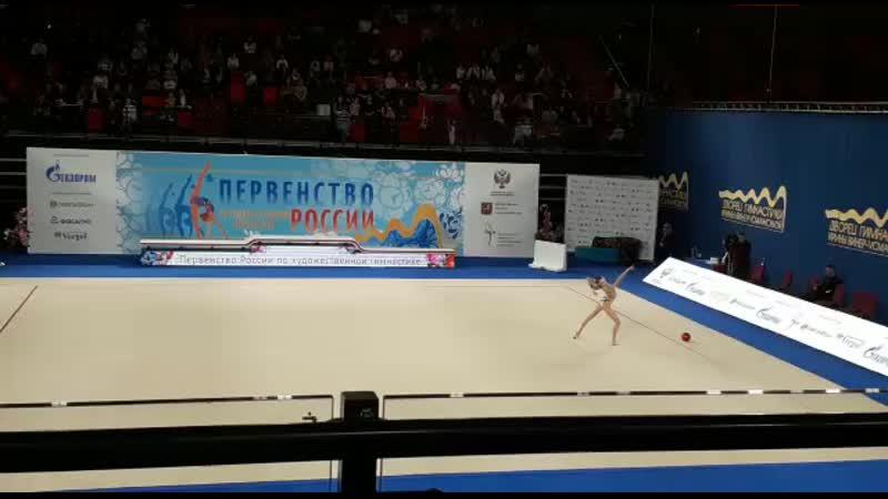 Ольга Карасёва Мяч Первенство России 2020