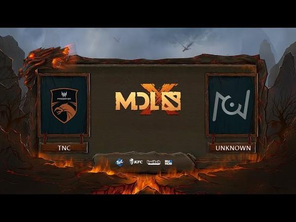 TNC Predator vs Team Unknown, MDL Chengdu Major, bo3, game 1 [Mila]