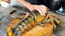 Thai Street Food GIANT LOBSTER Gravy Noodles Bangkok Seafood Thailand