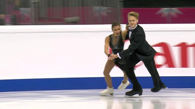 Диана Дэвис Глеб Смолкин Ритм танец Юниоры Финал Гран при по фигурному катанию 2019 20