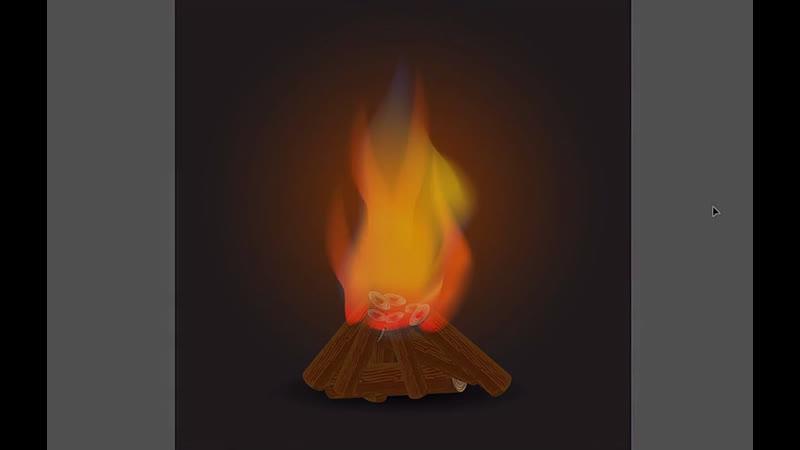 How to draw bonfire_ Adobe Illustrator Tutorial