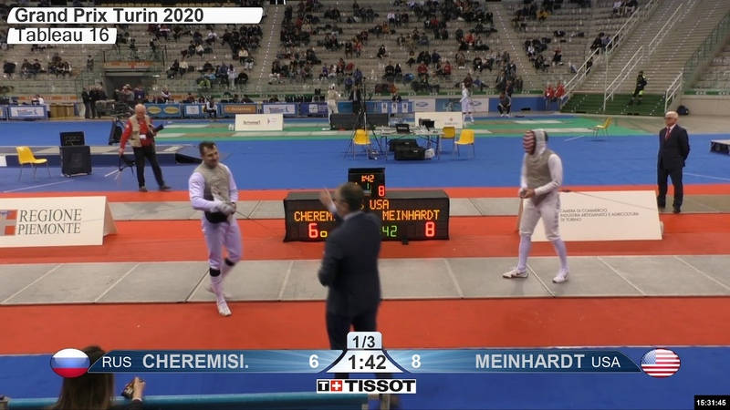 2020 134 T16 07 M F Individual Turin ITA GP RED MEINHARDT USA vs CHEREMISINOV RUS