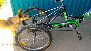 Трехколесный велосипед самодельный.