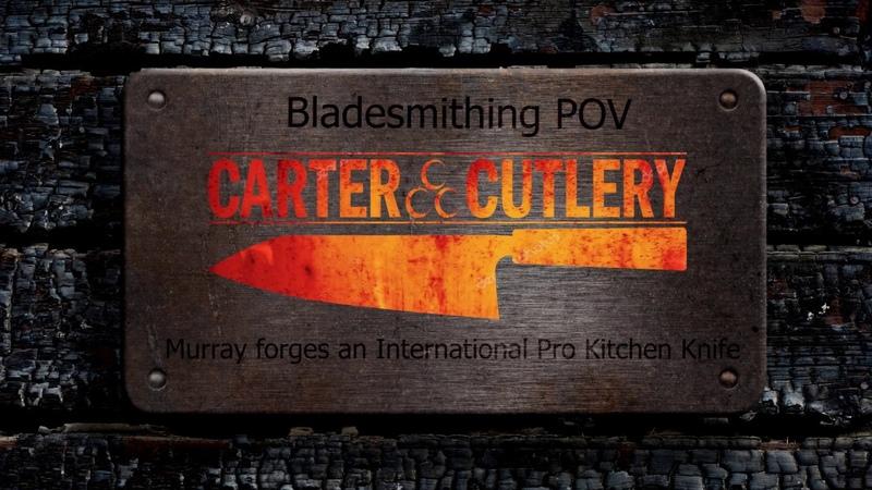 Bladesmithing POV Forging an International PRO Kitchen knife!