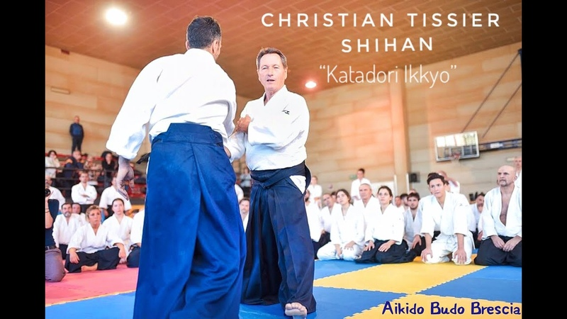 Christian Tissier Shihan Brescia Italy Jan 2020 workin on katadori ikkyo