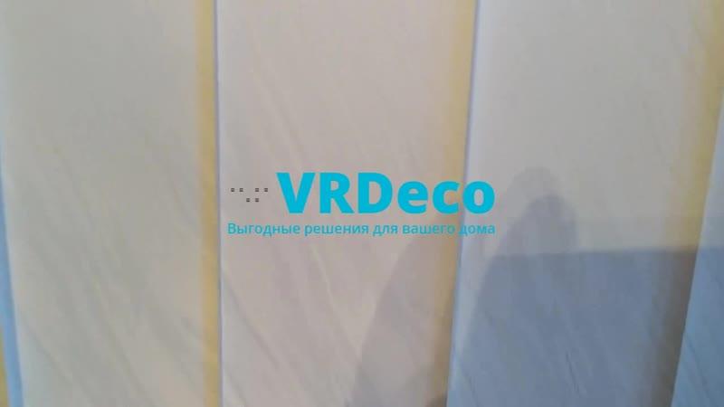 Вертикальные жалюзи с тканью Бали белый